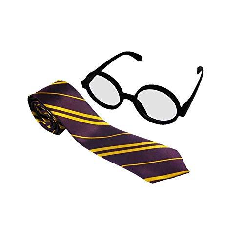 Zauberer Brille und Krawatte - Harry Dunne Kostüm