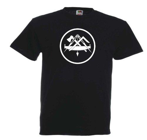 Zimmermann T154 Unisex T-Shirt Textilfarbe: schwarz, Druckfarbe: weiß