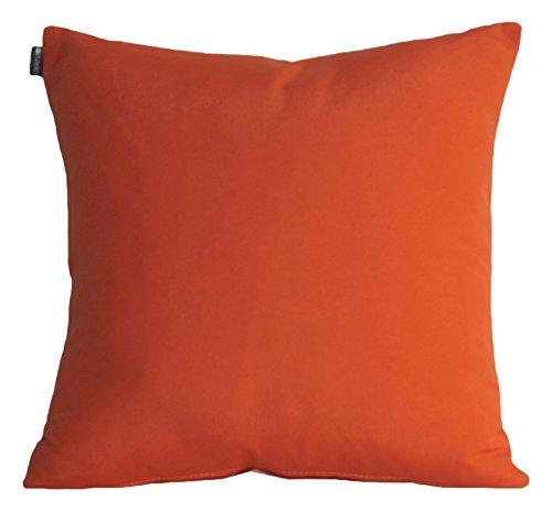 Blindecor Loneta - Cojín con relleno, 45 x 45 cm, color naranja