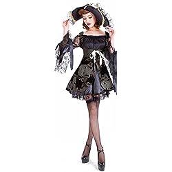 Halloween/traje/para las mujeres/falda sexy/fiesta/disfraz de bruja/ traje pirata-negro M