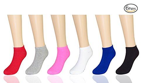 MYMYU Frauen Neuheit Lustige Cool Letters Print Gestickte Athletische Low Cut Knöchel Baumwollsocken (New 1) (Socken Athletische Knöchel)