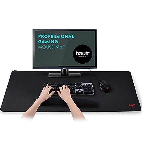 HAVIT Verlängertes Gaming Mauspad / Computer-Unterlage, gaming mouse pad Unterseite mit Anti-Rutsch-Beschichtung, extra groß für Gamer (900 x 400 x 3 mm) (MP855)