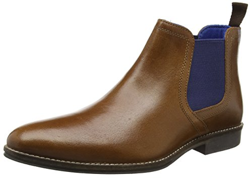 Red Tape, Herren Stockwood Chelsea Boots, Braun (Tan Leather / Blue), 43 EU (9 UK)