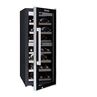 La-Sommelire-ECS402Z-Weinkhlschrank-1020-cm-Hhe-Zweizonen-Weintemperierschrank-mit-Kompressor-Digital-Anzeige-der-Temperatur-edelstahl-und-schwarz