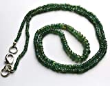 LOVEKUSH BEADS - Collana a 1 filo con perline in alessandrite naturale e rondelle lisce, lunghezza 50,8 cm, finitura rara da 2 a 5 mm, codice RR-22125