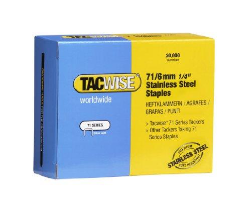 Tacwise 1014 Boîte de 20000 Agrafes en Acier Inoxydable 6 mm Type 71