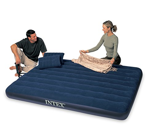 Intex Luftbett Classic Downy Blue Queen Set, blau, 152 x 203 x 22 cm/4-teilig - 2