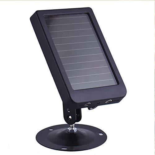 DBM-TOR Chargeur Solaire pour Appareil Photo Faune, Trail Caméra 1500mAh Solaire Chargeur de Batterie, caméra de Chasse Panneau d'alimentation Externe Solaire avec Design protégé IP56 Jet d'eau