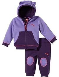 Puma Kinder Trainingsanzug Story Hooded Jogger 826055-02 68, Dahlia Purple-Blackberry Cordial, 68