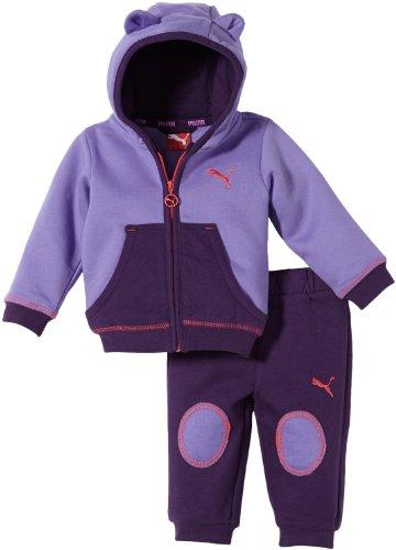 Puma Baby Anzug Story Hooded Jogger, Dahlia Purple-BlackBerry Cordial, 62, 826055 02 (Kleinkind Puma Trainingsanzug)