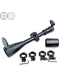 Eagle Eye 4-16x50 AOEG (30mm) Tourelles avec verrouillage/Reset Chasse Mil Dot Riflescope avec 2 types de Monts