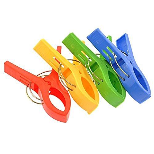 erioctry 4Groß schwere Pflicht Kunststoff Kleidung Pins Wäscheklammern Klemmfedern Pins Kleidung Line Clips