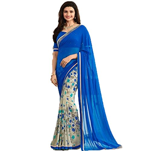 Attire Design Clothing Saree Collection in Multi-Colored Georgette Material For Womens Party Wear With Blouse Piece Fancy Look Saree For Womens