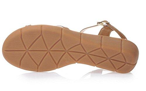 Sommer dicke Kruste Keil Sandalen weibliche Schuhe mit hohen Absätzen mit dünnen weiblichen Blüten offener Sandalen Fischkopf Schuhe naturals