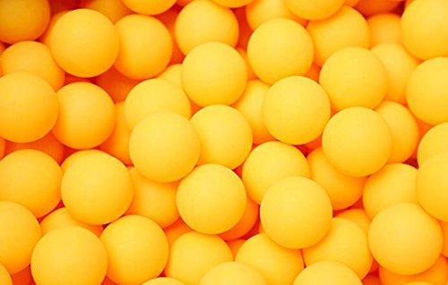 Drawihi 50 Stück Tischtennis für die Ausbildung Kunstoff bälle 40mm Tischtennis ohne logo Sportartikel (Gelb)