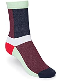 ThokkThokk Layer High-Top Socken Red/Blue Bio