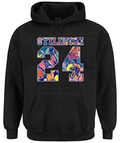 Stilinski 24 Flowers Hooded-Sweater Black Certified Freak-L