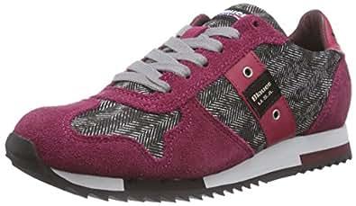 Blauer USA WORUNLOW/Her, Sneakers Basses Femmes - Multicolore - Mehrfarbig (Red), 36 EU