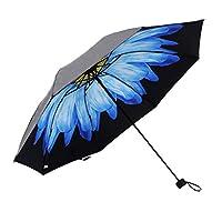JUNDY Windproof Travel Umbrella Folding Umbrella- Lightweight Compact Umbrella with Fast Drying Coating, Easy-Carrying Case Black plastic anti-UV sunscreen umbrella