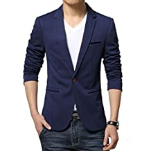 Menjestic Mens Casual/Formal Blazer/3 Colours (Blue, 34)