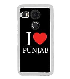 I love Punjab 2D Hard Polycarbonate Designer Back Case Cover for LG Nexus 5X :: LG Google Nexus 5X New