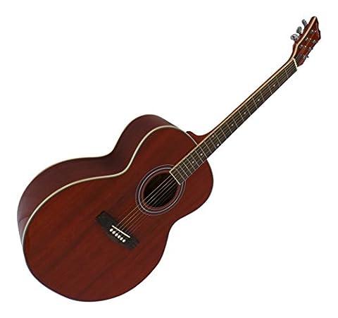 Cordes en acier pour guitare acoustique Taille Complète Corps Jumbo Pack 4/4en acajou