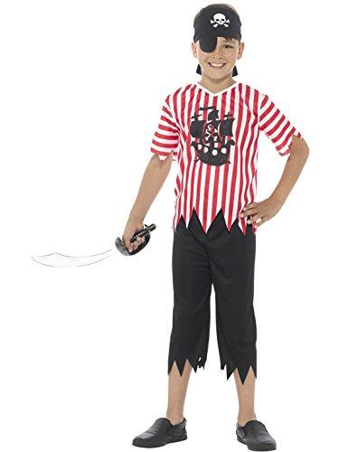 sgaukler Piraten Kostüm für Kinder, 122-134, 7-9 Jahre, Mehrfarbig (Kostüme In Orlando)