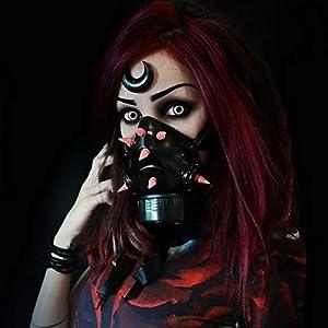 MB-Müller 87324-007-000 - Máscara de gas con pinchos UV, unisex, color negro