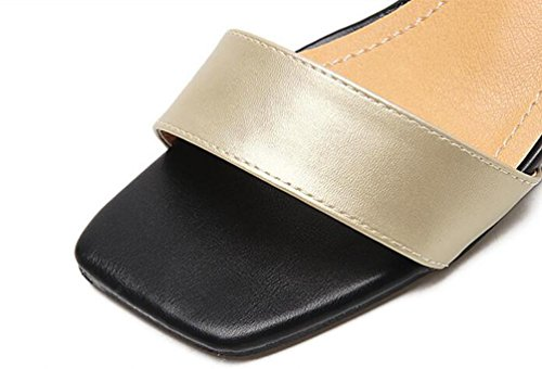 OL cavigliere aperte Toe Chunky tallone alto Hechizo: Facile per coincidir con le donne di moda casual della matrimonio Sandals UE formato 35–39 argento