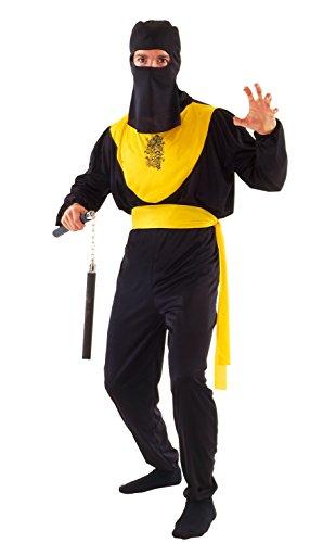 FIORI PAOLO–Dragon Ninja disfraz para adulto, color negro, talla 52–54, 62126