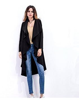 Señoras y todos-match irregular chaqueta manga larga.