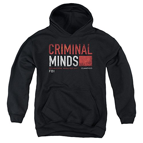 2Bhip Criminal Minds TV Show CBS Title Card Big Boys Youth Pull-Over Hoodie