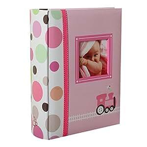 album photo naissance pochettes happy train rose pour 200 photos 10x15 cm b b s. Black Bedroom Furniture Sets. Home Design Ideas