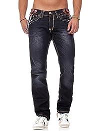 Amica Jeans - Jeans à bretelle homme Jeans AM9608 noir - Noir