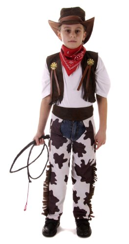 New Cowboy Fancy Dress - Travestimento da cowboy, 4-6 anni