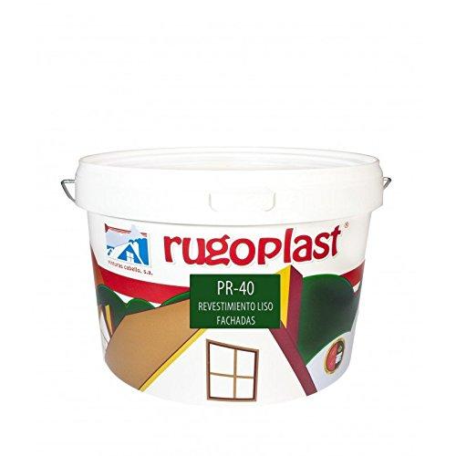 Pintura alta calidad de exteriores blanca revestimiento liso ideal para decorar las paredes exteriores de tu casa PR-40 Blanco (10 Kg) Envío GRATIS 24 h.