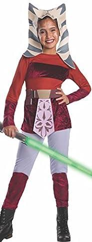 Star Wars Ahsoka Kostüm für Kinder, Größe:L (Padawan Star Wars Kostüm)