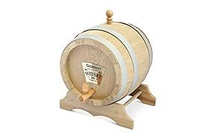 Fût Baril tonnelet à whisky / vin en chêne, 5 L avec votre personnalisation (gravure incluse)