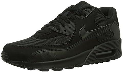 Nike Air Max 90 537384, Herren Sneakers Training, Schwarz (Schwarz 090), 46