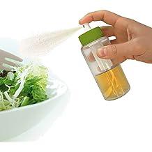 Vin Bouquet FIH 025 - Spray de aceite y vinagre con filtro y bomba, tarro fabricado en cristal, color verde y transparente