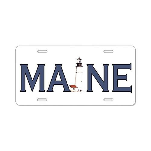 CafePress Maine Leuchtturm Aluminium Nummernschild–Standard mehrfarbig