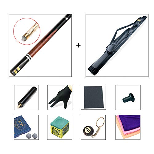 ZXH HETAO Pool Queue, einpoliger Club Asche-Vakuumschnittstelle 10 mm Tip American Nine Ball Snooker Club Billard mit Rod-Gehäuse Indoor (Farbe : A4)