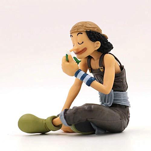 MDDCER One Piece Lysop World Congress Sitze Animation Charakter-Modell-Dekoration Statue Action-Figur Weihnachtsgeburtstagsgeschenk Kinder Spielzeug
