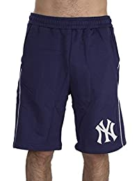 Majestic Bermudas Mlb New York Yankees Maki Fleece azul/blanco talla: L (Large)