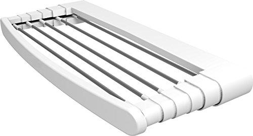 Vileda genius 70 stendibiancheria da parete, stendino in alluminio/resina, bianco, 6 x 14.5 x 70 cm