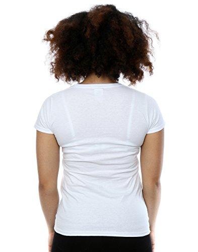 Disney Femme Alice In Wonderland Cheshire Cat T-shirt Blanc