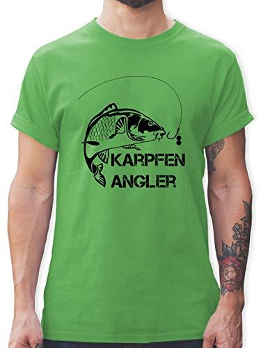 Angeln - Karpfen Angler - XL - Grün - L190 - Herren T-Shirt und Männer Tshirt