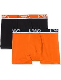 Emporio Armani Underwear 1112687P715, Boxer Homme, Multicolore (CAROTA/NERO), X-Large