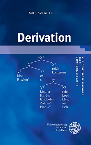 Derivation (Kurze Einführungen in die germanistische Linguistik - KEGLI, Band 20)