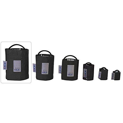 MDF® bracciale per la rilevazione della pressione senza latex - Coscia - Tubo singolo - Nero (MDF2090471-11)